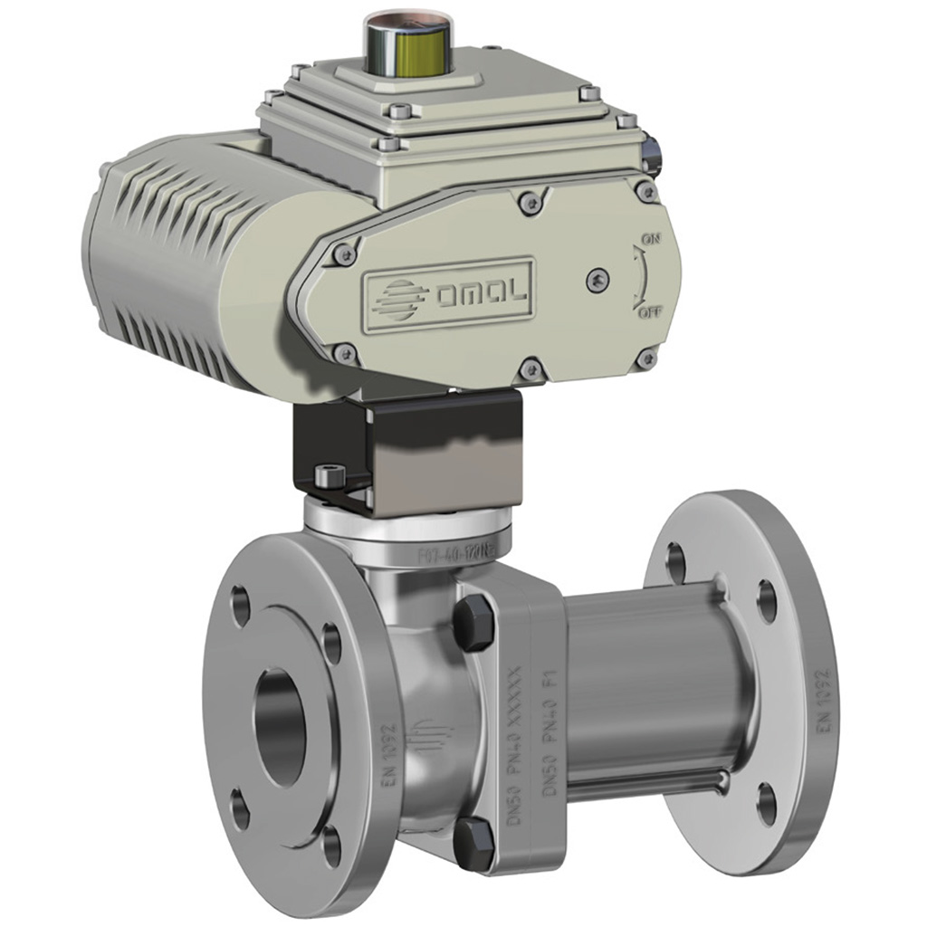 Prochemie 60 Split Body PN 16-40 stainless steel ball valve - info drivers - Electric actuator