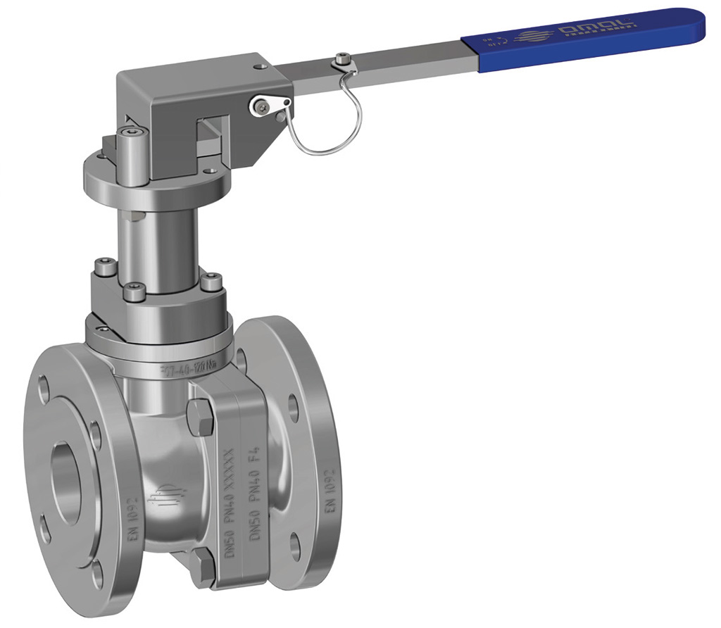 Prochemie 60 Split Body PN 16-40 stainless steel ball valve - special executions - Locking device with stem extension