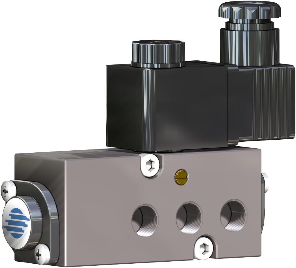 Aluminium two stage pneumatic actuator - accessories - NAMUR SOLENOID VALVES
