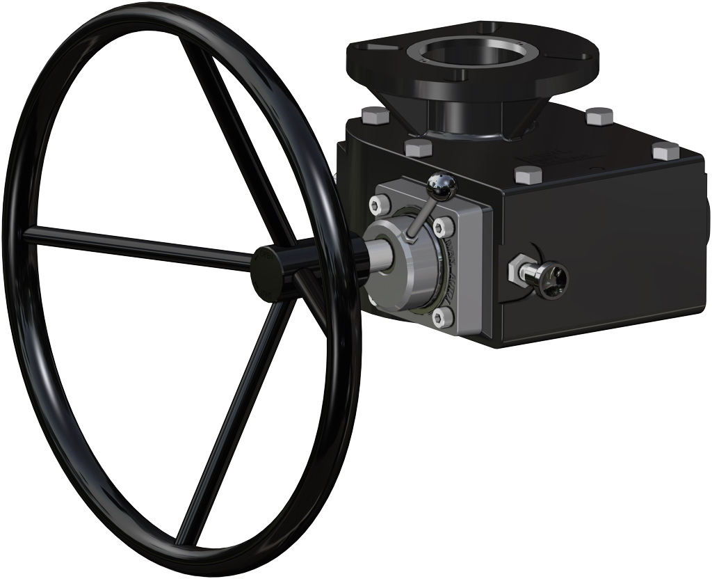 Spring return SR actuator  50 PSI ÷ 3,5 bar - accessories - MANUAL OVERRIDE WITH HAND WHEEL