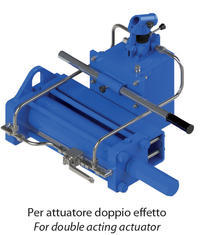 Double acting DA type Heavy Duty carbon steel actuator - accessories - MANUAL HYDRAULIC OVERRIDE