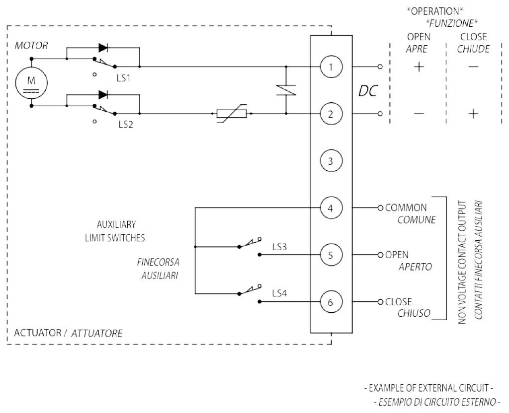 AE ON-OFF rotary type electric actuator - specifications - AE Vdc