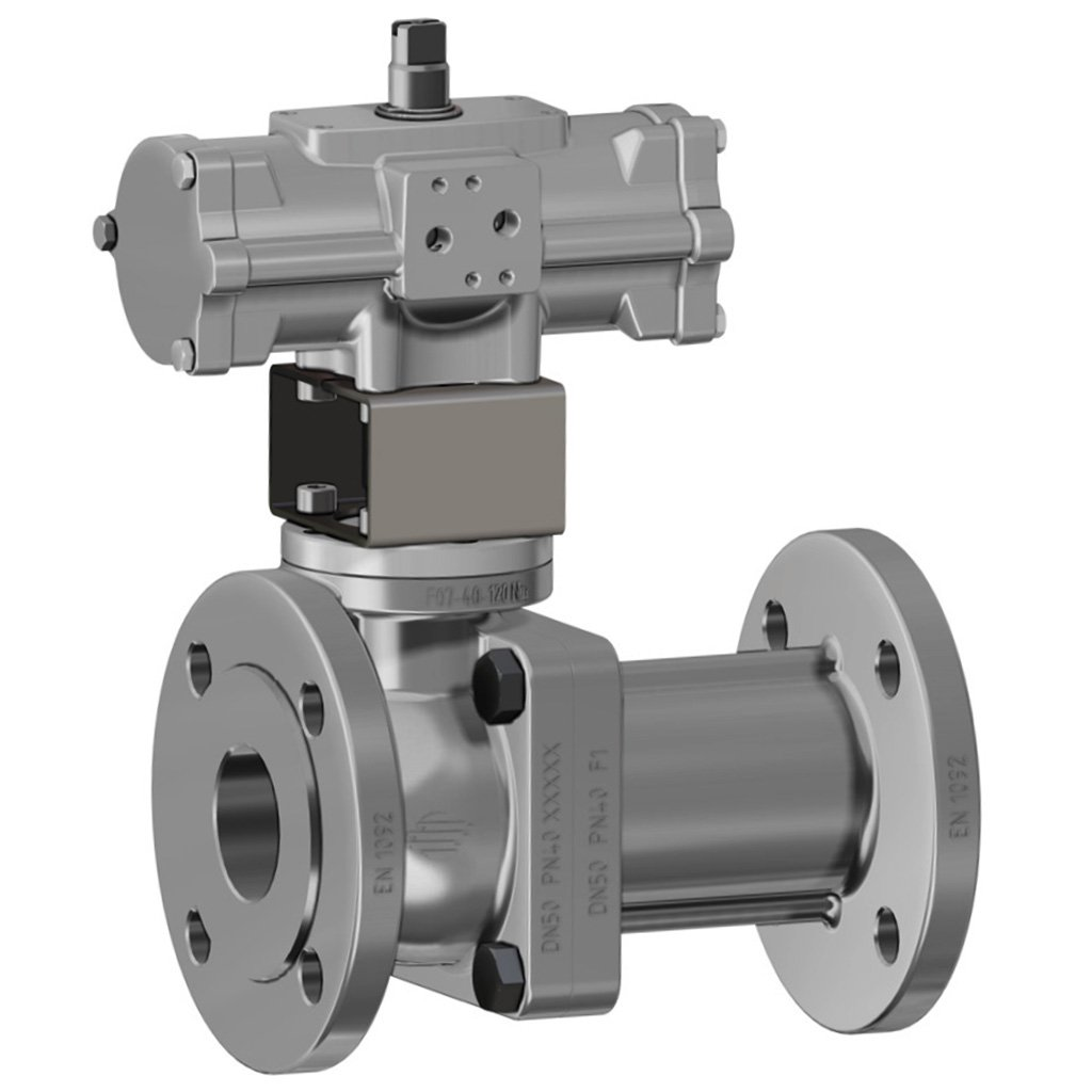 Prochemie 60 Split Body PN 16-40 stainless steel ball valve - info drivers - Stainless steel double acting and spring return acturator