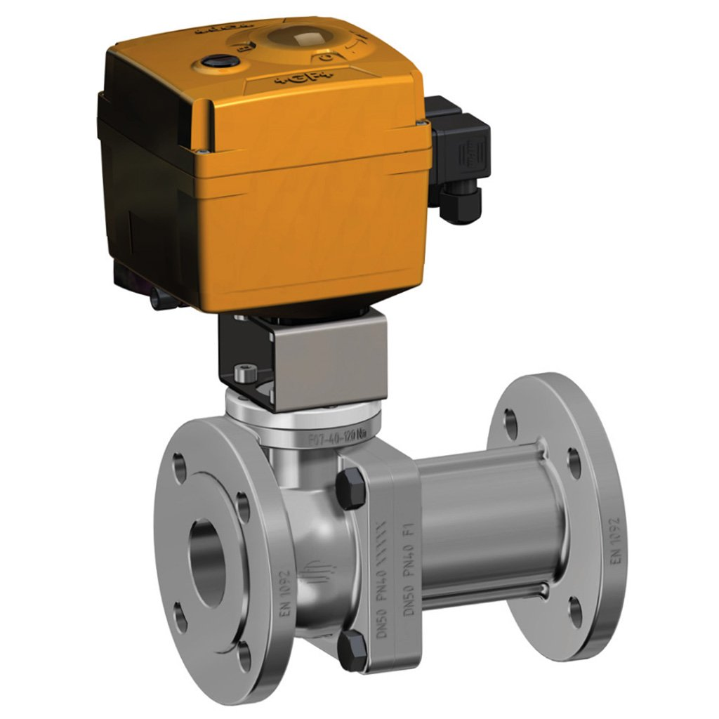 Prochemie 60 Split Body PN 16-40 stainless steel ball valve - info drivers - Electric actuator available untill DN50