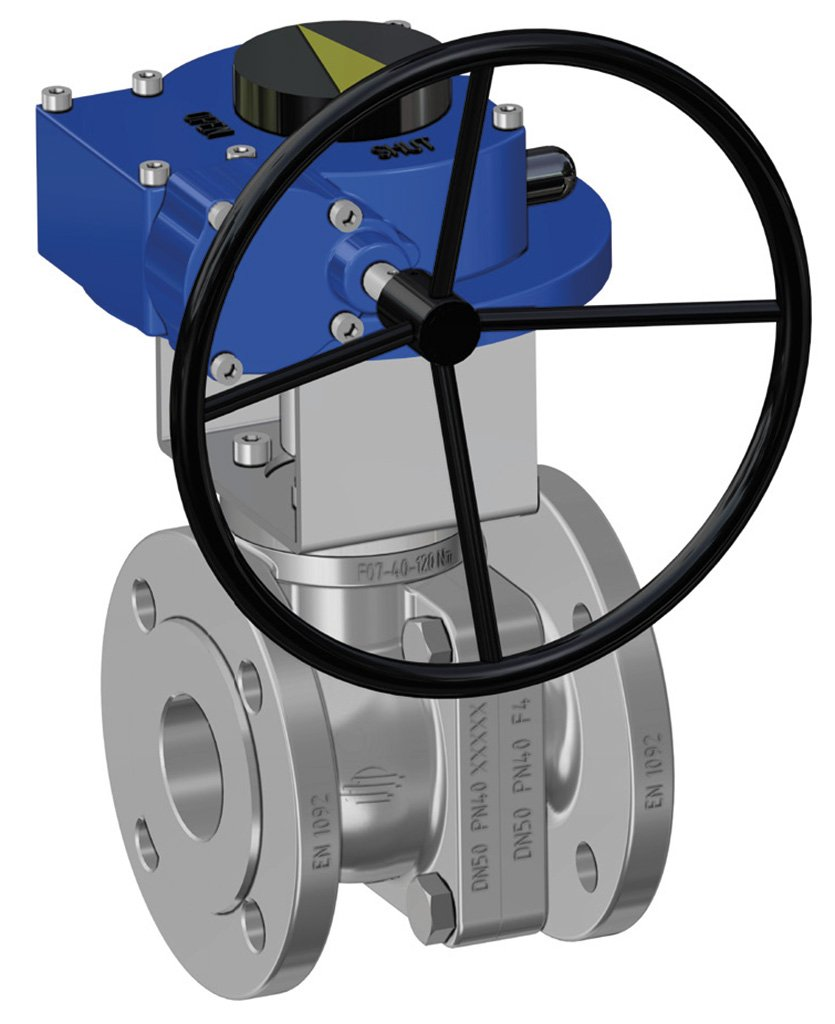 Prochemie 60 Split Body PN 16-40 stainless steel ball valve - special executions - Manual gear-box