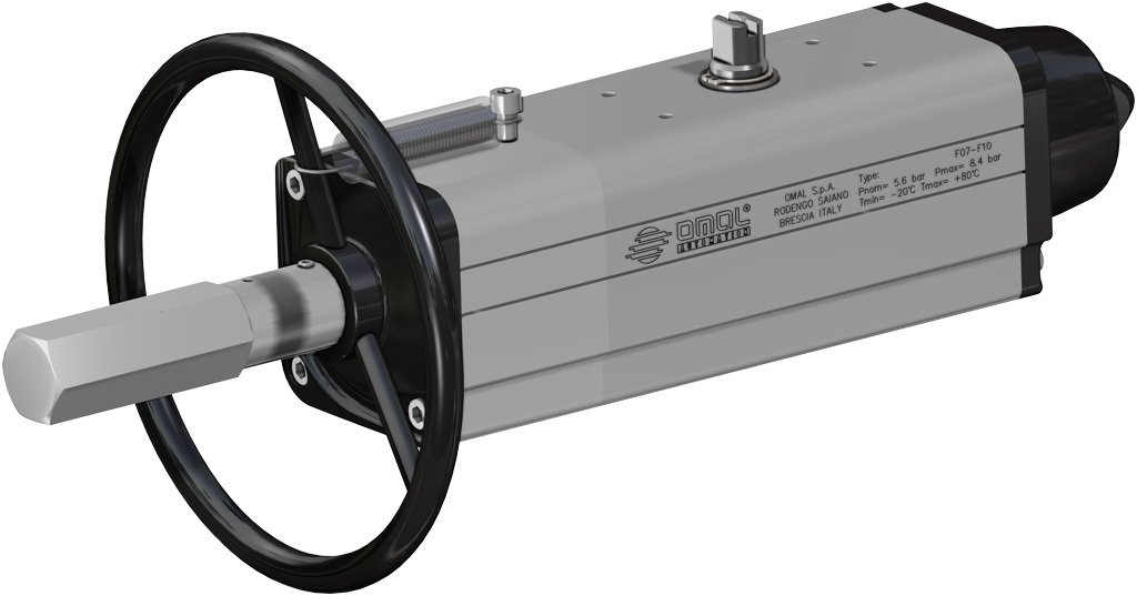 Supreme Trunnion ball valve - info drivers - Pneumatic actuator with integrated emergency handwheel