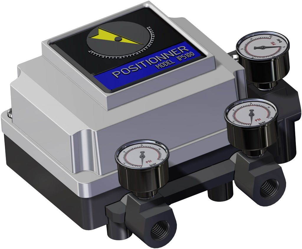 Pneumatic actuator spring return SR with integrated handwheel - accessories - PNEUMATIC POSITIONER